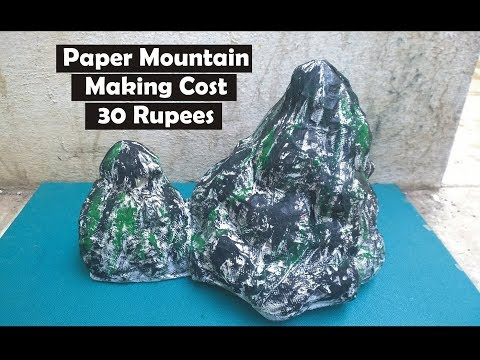 Paper Mountain | News Paper Mountain | Scrap Paper Craft | Model for Exhibition