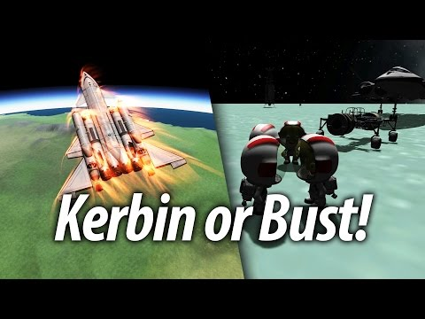 SSTO Kerbin Return and Reentry (Beginner Tutorial: 17) Kerbal Space Program (KSP) 1.1 Stock Career