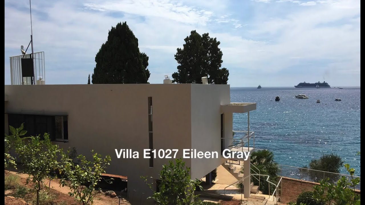 villa e1027 eileen gray roquebrune cap martin youtube. Black Bedroom Furniture Sets. Home Design Ideas