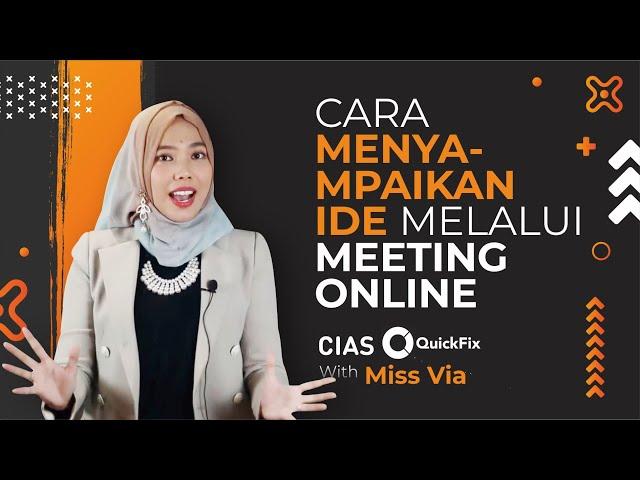 Cara Menyampaikan Ide Melalui Meeting Online