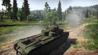 War Thunder Т-35 и раздельное управление башнями