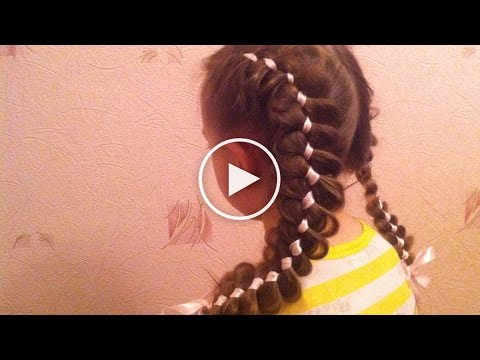 Плетение косы водопад - видео инструкция (Waterfall Braid)