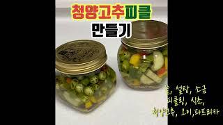 [간단한 요리]청양고추피클 만들기, 피클만들기, 수제피…
