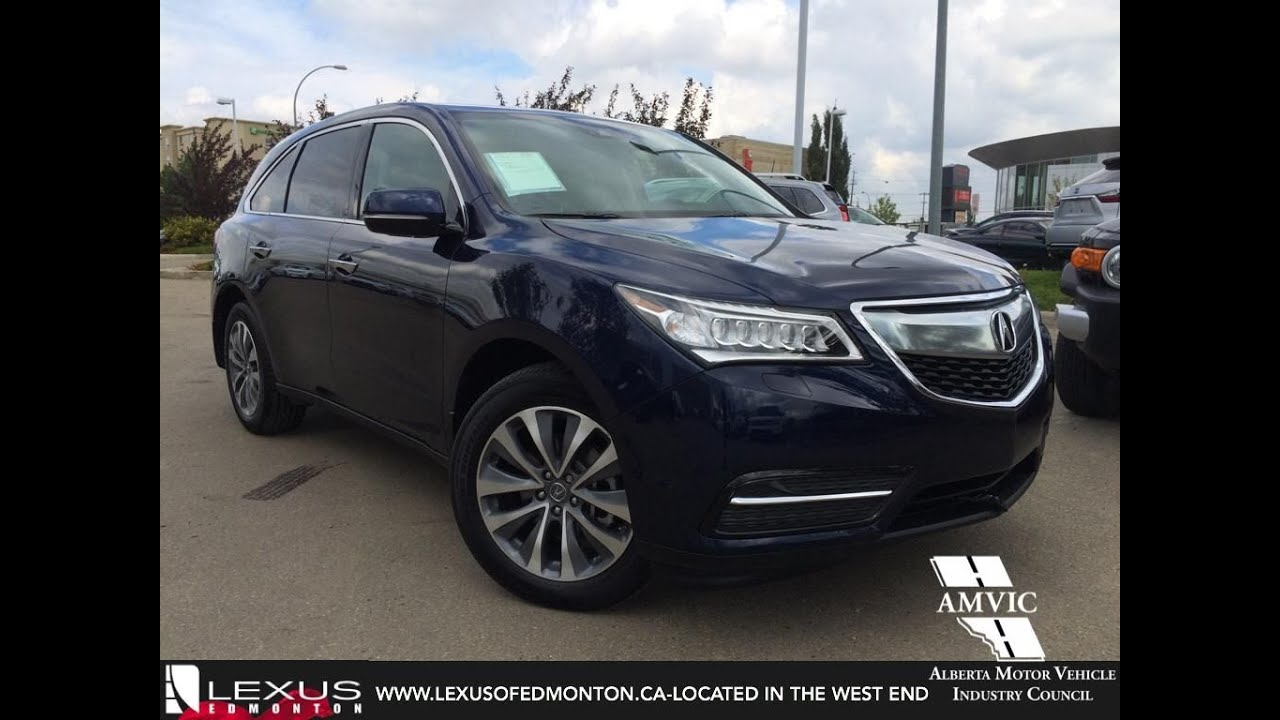 Used Blue Acura MDX SHAWD WTech In Depth Review Vegreville - Acura mdx 2018 used