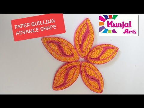 PAPER QUILLING FLOWER PETAL / ADVANCE QUILLING / QUILLING SHAPES / CREATIVE / PINK YELLOW PETAL