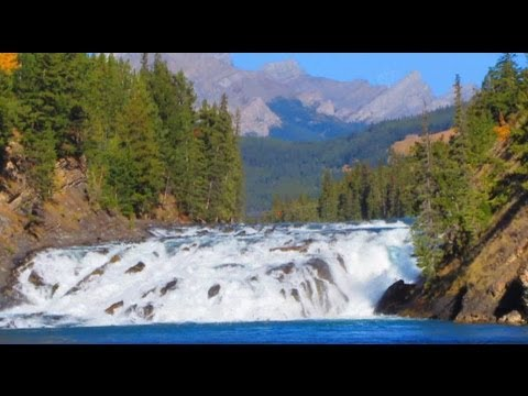 Beautiful Bow Falls Banff Canada