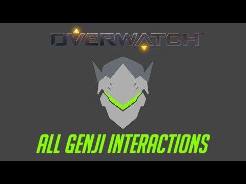 Overwatch - All Genji Interactions V2 + Unique Kill Quotes