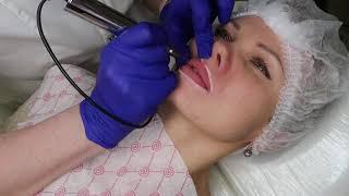 Перманентный макияж губ от начала и до конца