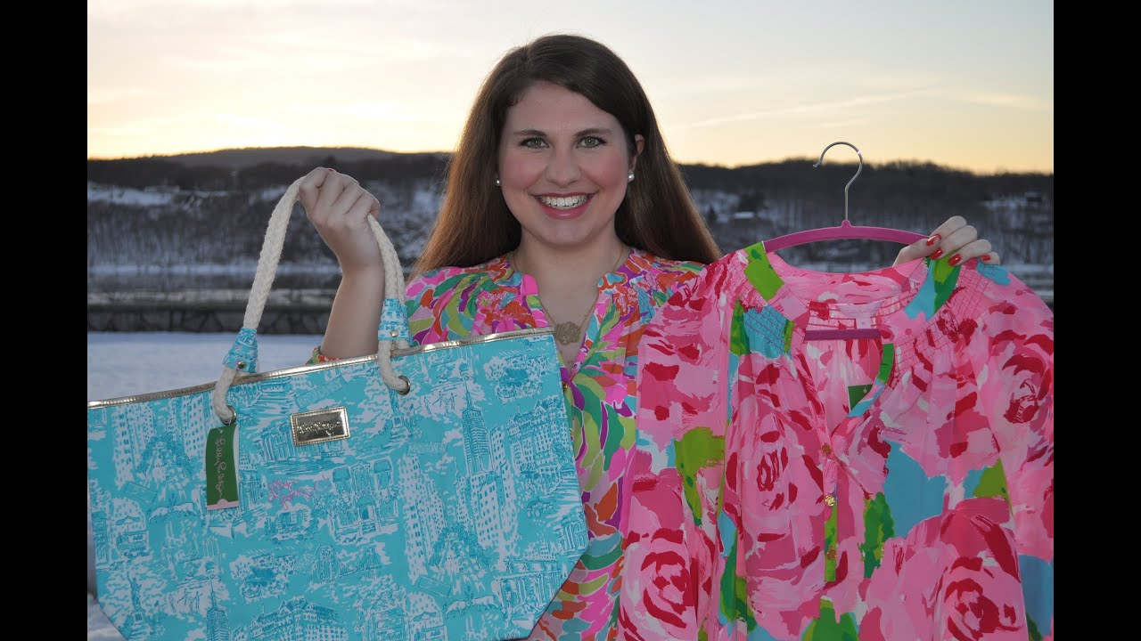 2c173550a6 Lilly Pulitzer Haul Spring 2014 and Resort - YouTube