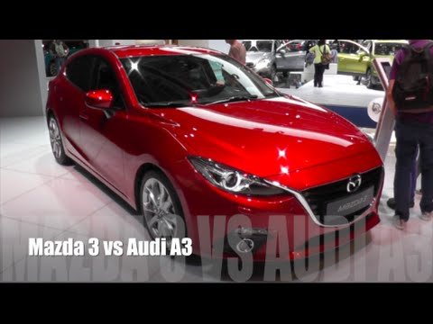 mazda 3 2016 vs audi a3 2016 youtube. Black Bedroom Furniture Sets. Home Design Ideas