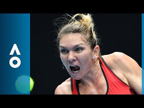 CPA Australia Shot of the Day: Simona Halep returns fire against Lauren Davis | Australian Open 2018