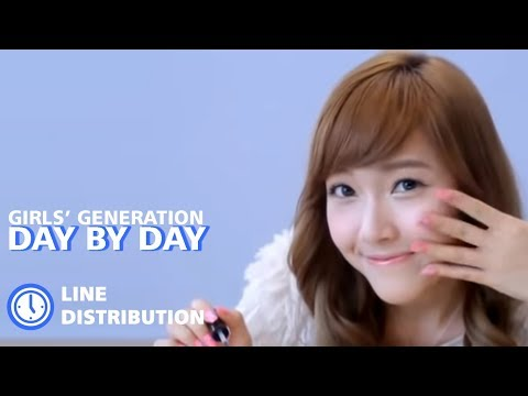 Girls' Generation (SNSD) - Day By Day : Line Distribution (Color Coded)