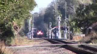 Amtrak Auto Train Palatka FL Railfanning 02-18-2015