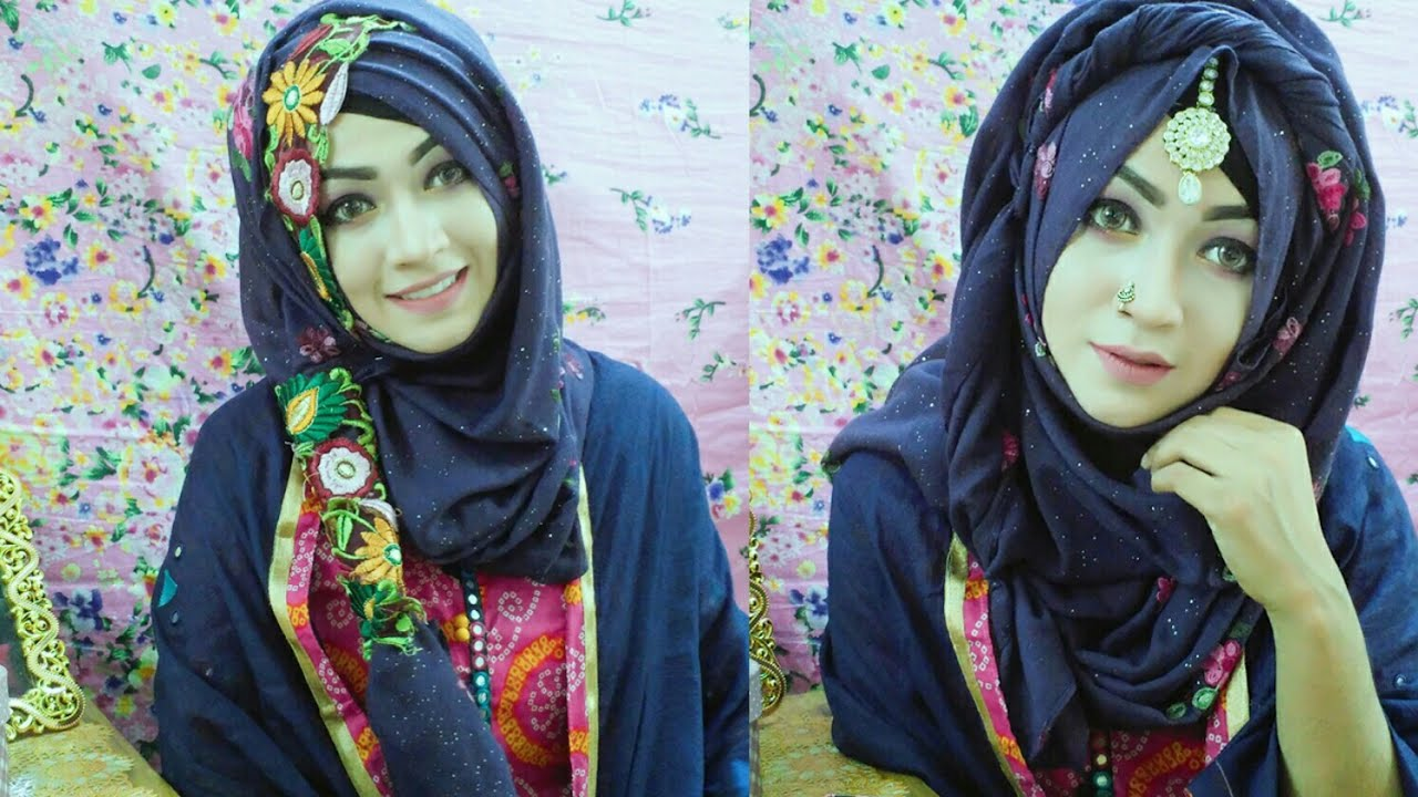 Easy 2 Hijab Style For Holud Mehendi Bridal Shower