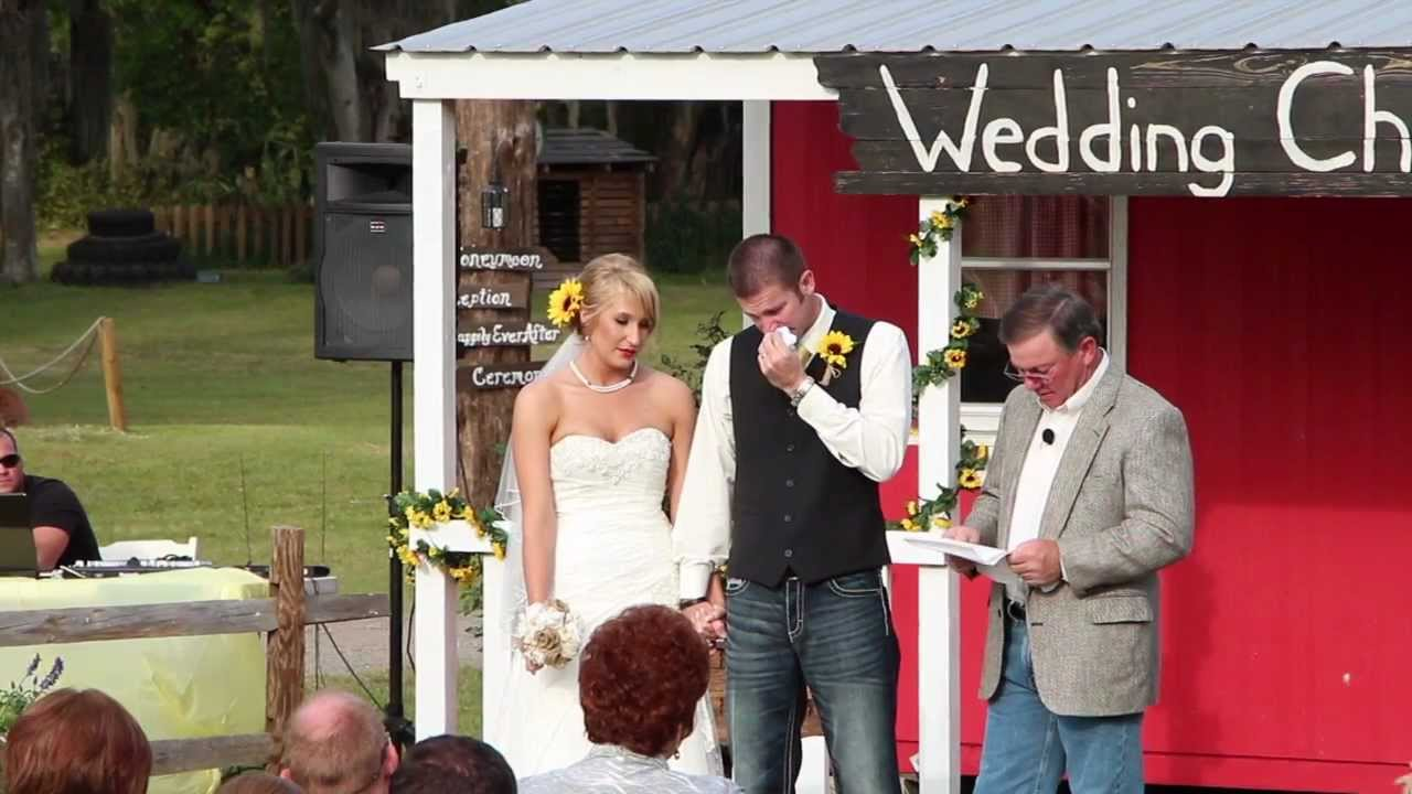 grooms letter to his bride read by his father