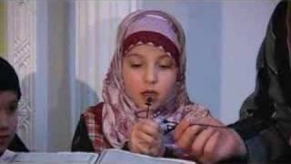 So Cute! Muslim German Girl Recites Quran Ch. 88