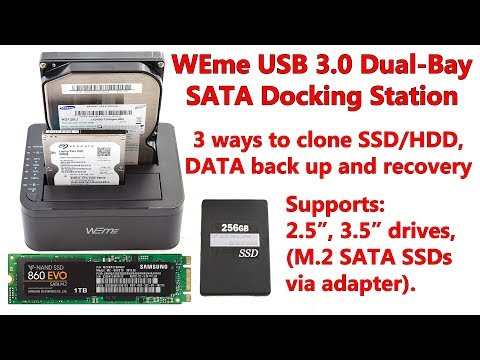 WEme USB 3.0 Dual-Bay Docking Station How To Clone, Backup And Recover Your DATA