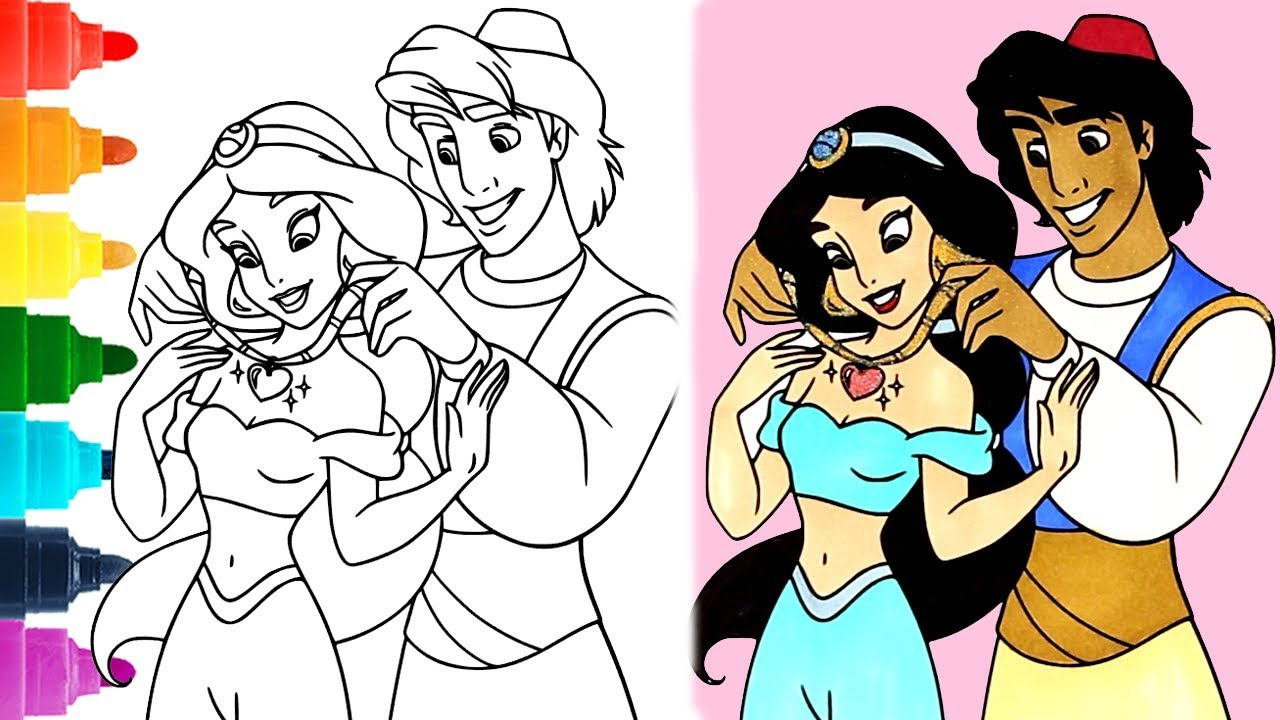 aladdin coloring pages 1080p coloring jasmine princess aladdin disney coloring book