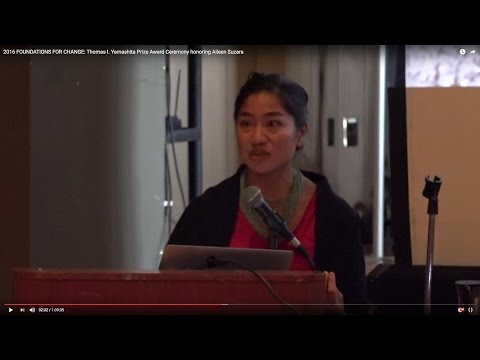 Yamashita Prize Ceremony for Aileen Suzara, Keynote by Lauret Savoy