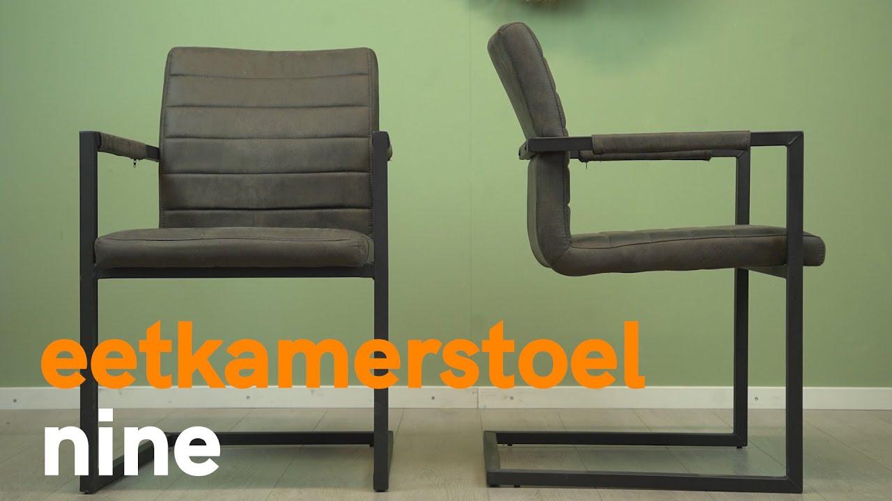 Mooie comfortabele eetkamerstoel Nine koop je bij HUUS.nl