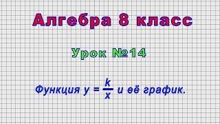 Алгебра 8 класс (Урок№14 - Функция y = k/x и её график.)