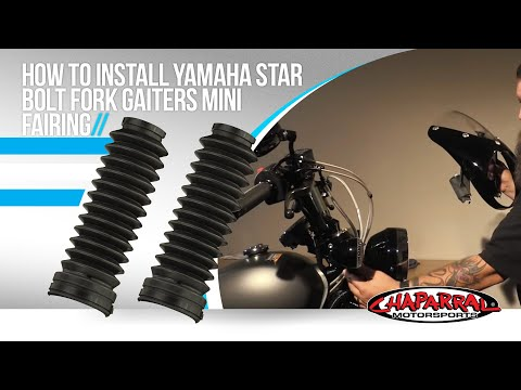 How to install Yamaha Star Bolt Fork Gaiters Mini Fairing and Fender Eliminator Kit Tutorial