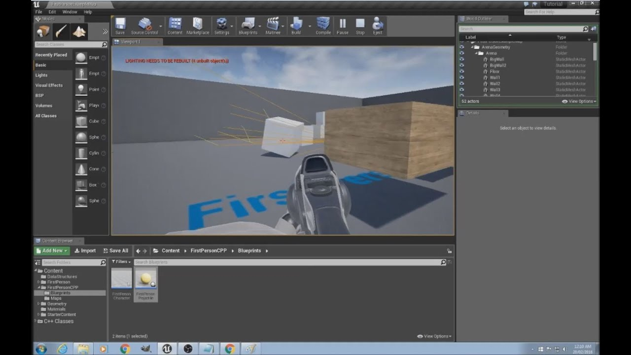Unreal Engine Tutorial - Projectile Physics part 5/5