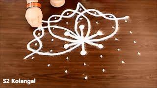 melika muggulu designs - simple sikku kolam designs - easy rangoli designs with dots