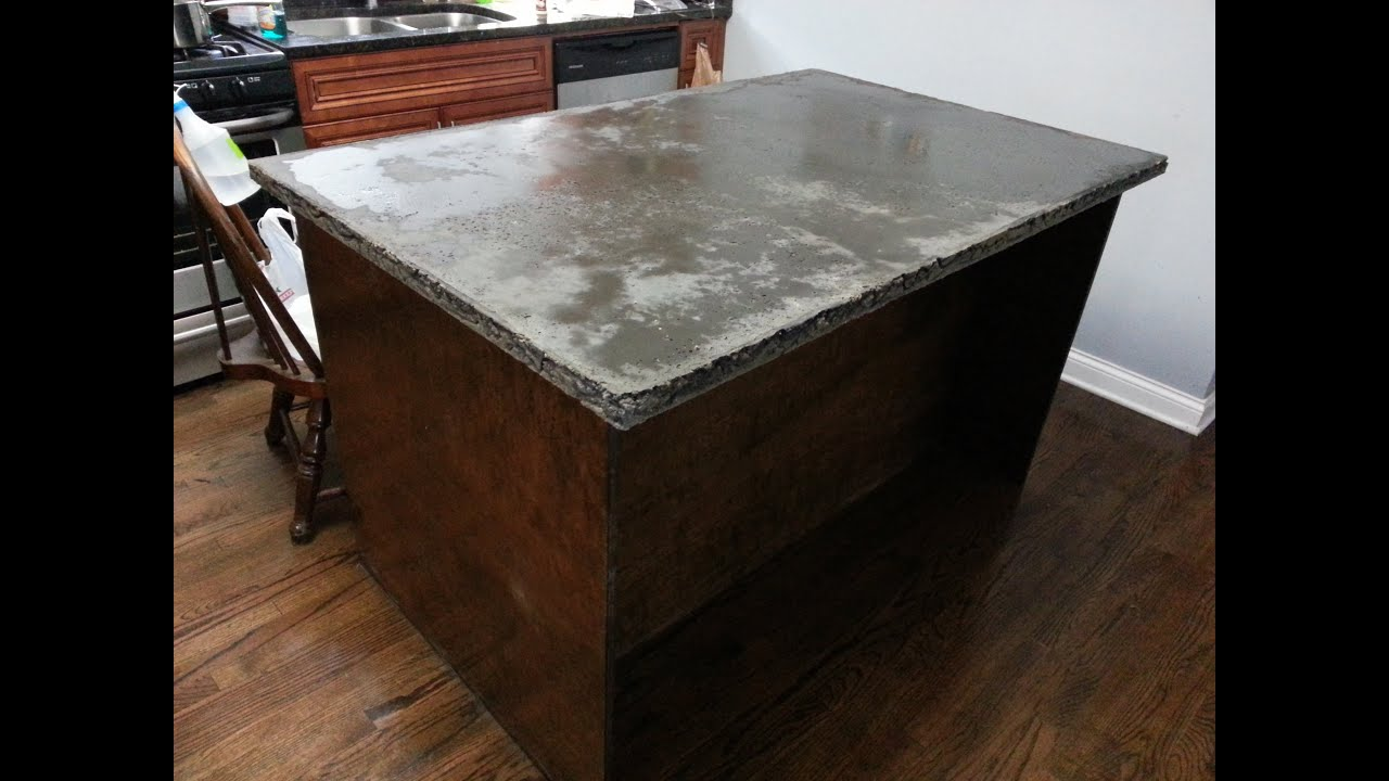 concrete countertop center island start to finish HD | Doovi