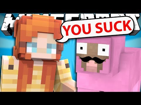 Pink Sheep Meets Liz for the First Time - Minecraft