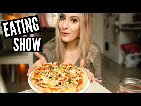 EATING SHOW: HOMEMADE PIZZA!!