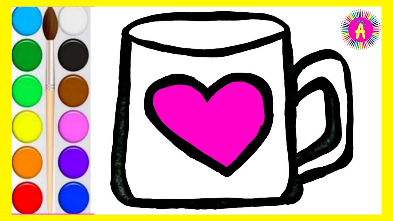 Раскраска КРУЖКА для малышей • Рисуем и раскрашиваем ...