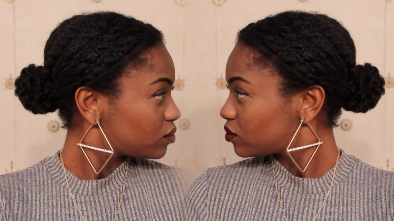How To Low Textured Bun On 4c Natural Hair Protective Style