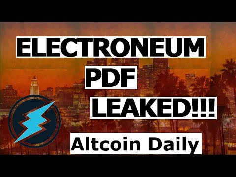 ELECTRONEUM PDF LEAKED! ETN UNCOVERED!