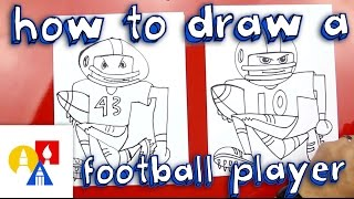 a football player drawing lesson