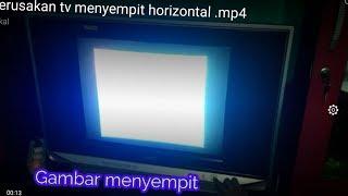 KERUSAKAN TV MENYEMPIT HORIZONTAL TV SLIM