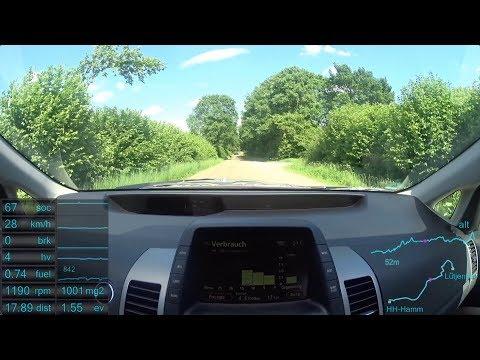 #12 Prius 2 - AUTO BILD Teststrecke Teil 1: Hamburg - Lütjensee (neue Version)