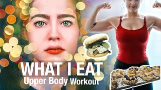 What I Eat In A Day | Upper body Workout | Groceries & Recipes