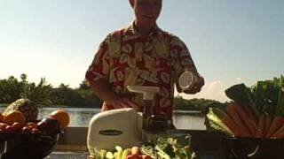 Omega 8003 Nutrition Center Juicer Making Green Juice Demonstration