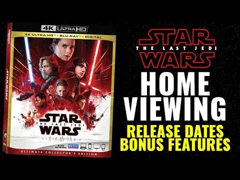 Star Wars The Last Jedi - HOME RELEASE - Bonus Features, Release Dates, Info