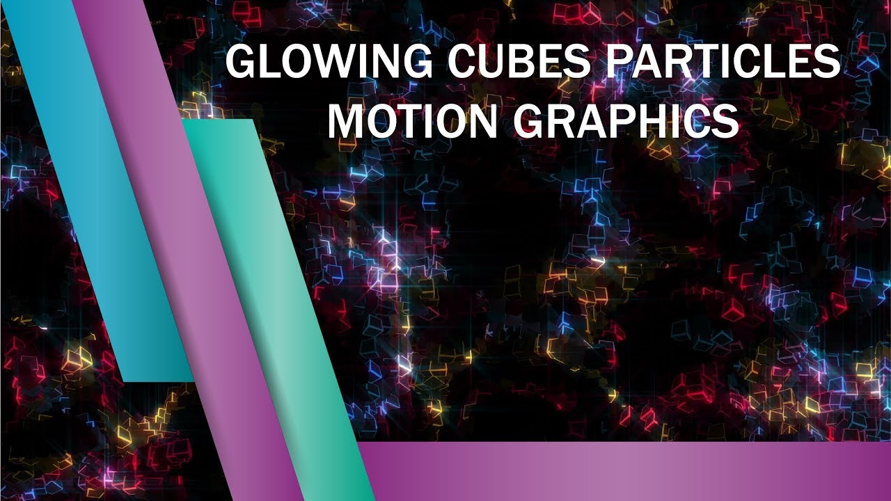 glowing cubes particles motion graphics template youtube