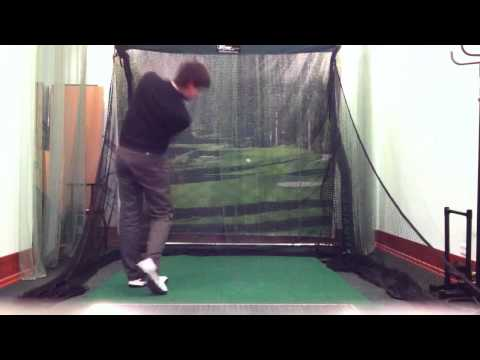 Golf practice with The Net Return Pro