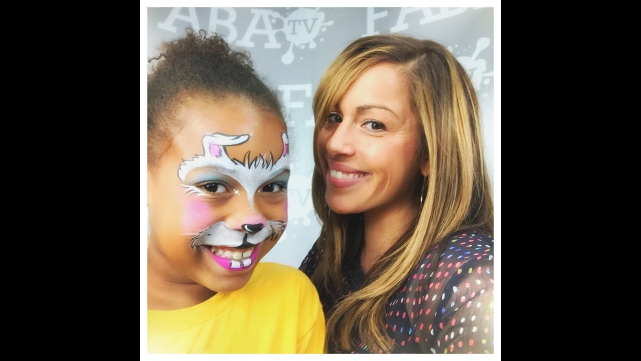 Cute Easter Bunny Face Painting Design YouTube