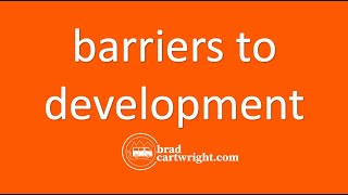International Trade and Economic Development Series:  Barriers to Development