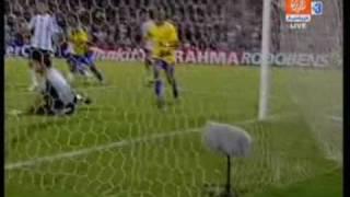 argentina vs brazil 1 3 06 09 2009 south africa world cup goals