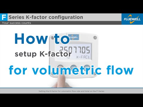 Setting the K-factor for volumetric flow rate and total on