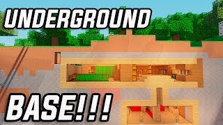 Minecraft: How to Build a Secret Base Tutorial (#10) - Easy Hidden House