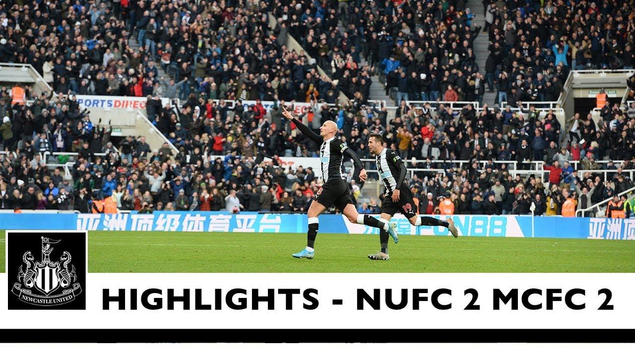 Ньюкасл  2-2  Манчестер Сити видео
