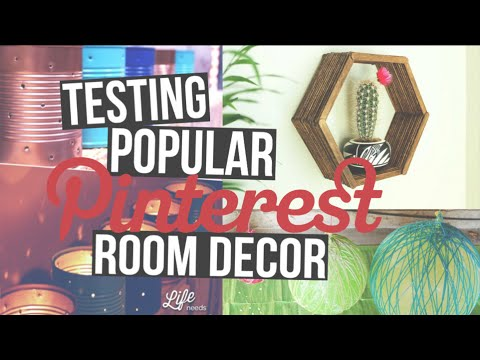 TESTING POPULAR PINTEREST ROOM DECOR!!