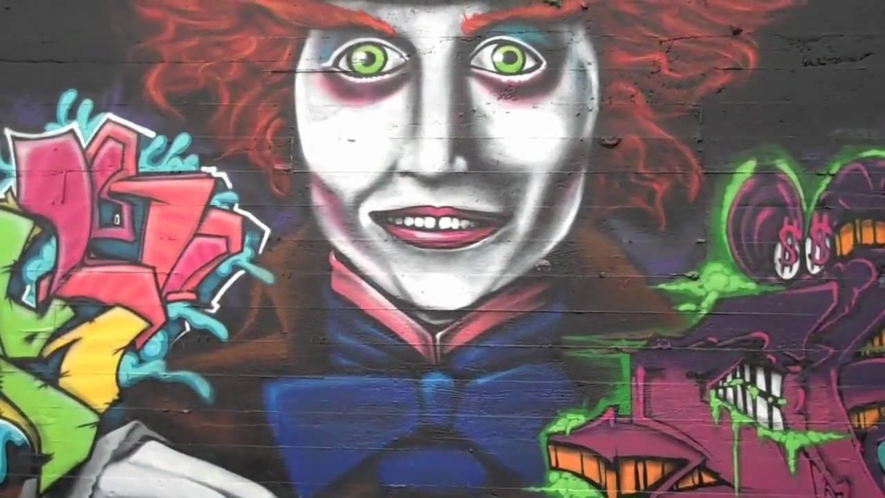 Graffiti Art (Alice in Wonderland) - YouTube
